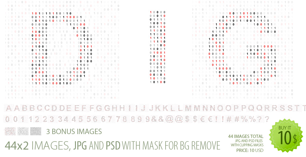 Font from digit matrix