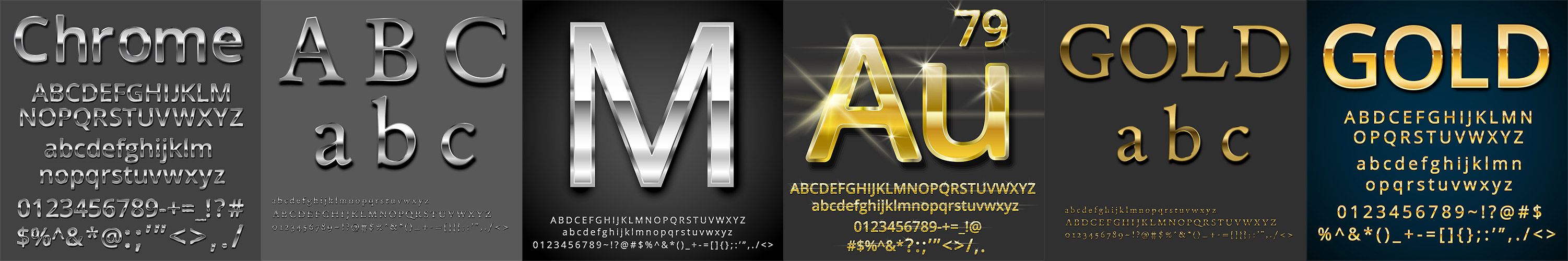 Font-ClipArt com » Gold and Metal Photoshop and Illustrator