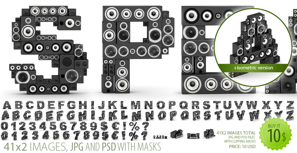Speakers Font-Clipart